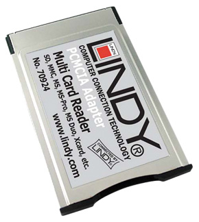 LINDY 46-IN-1 PCMCIA CARD READER SILVER