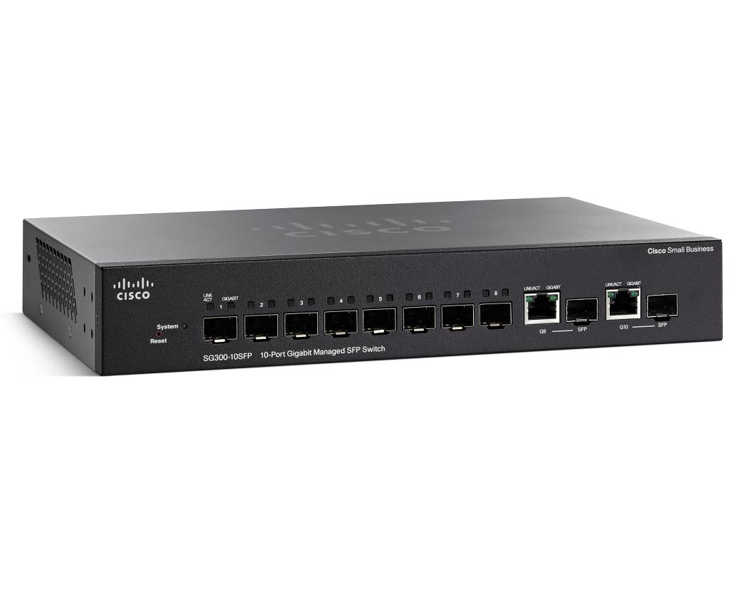 CISCO SG300-10SFP-K9-EU SG300-10SF MANAGED NETWORK SWITCH L3 GIGABIT ETHERNET BLACK