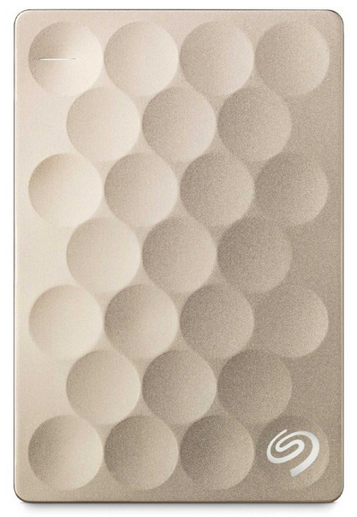 SEAGATE BACKUP PLUS ULTRA SLIM 1TB 1000GB GOLD EXTERNAL HARD DRIVE