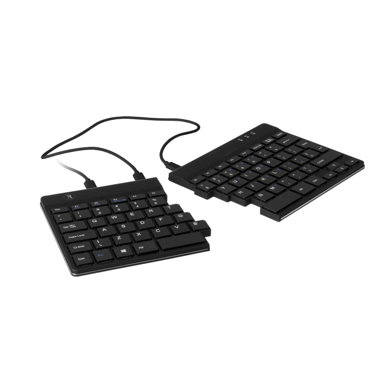R-GO TOOLS RGOSP-BEWIBL SPLIT ERGONOMIC KEYBOARD, AZERTY (BE), BLACK, WIRED