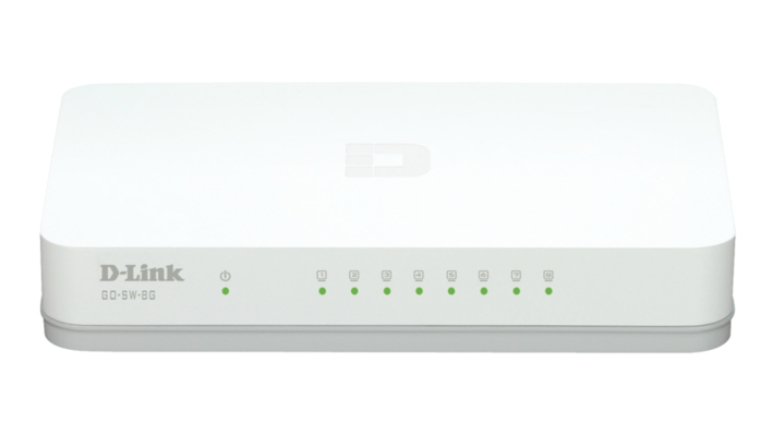 D-LINK GO-SW-8G MANAGED NETWORK SWITCH L2 GIGABIT ETHERNET (10/100/1000) WHITE