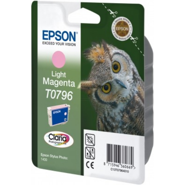 EPSON C13T07964010 (T0796) INK CARTRIDGE BRIGHT MAGENTA, 975 PAGES, 11ML