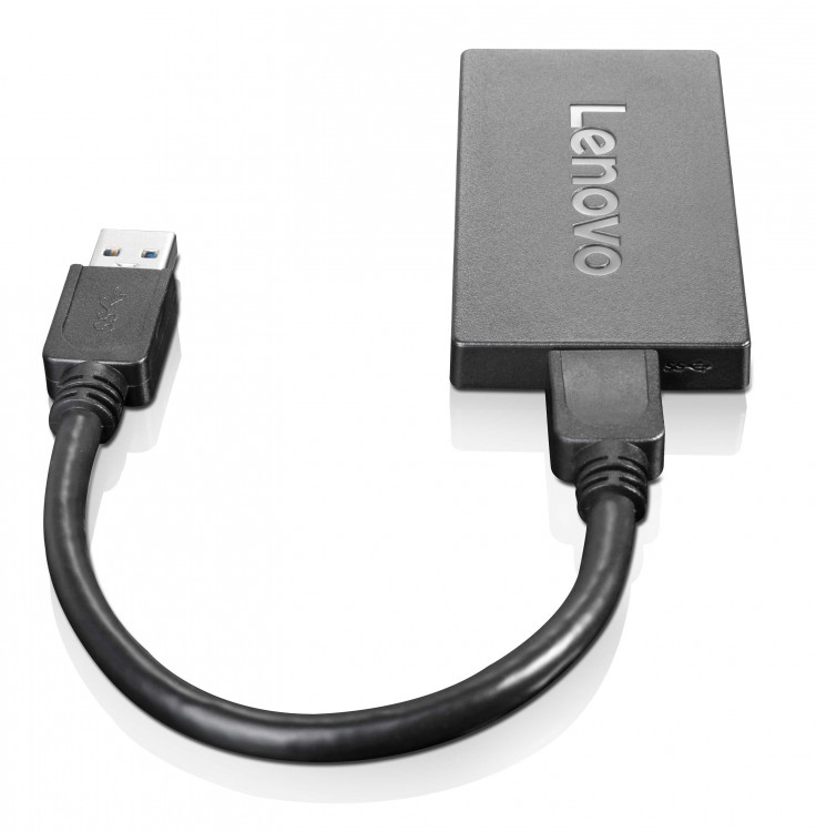 LENOVO 4X90J31021 USB DISPLAYPORT BLACK CABLE INTERFACE - GENDER ADAPTER