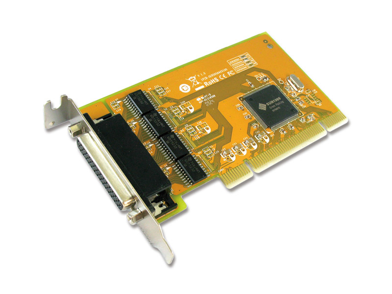 SUN MICROSYSTEMS MICROSYSTEMSIX SER5056AL PCI SERIAL RS-232, PLUG-N-PLAY, LOW PROFILE, 120 X 68MM