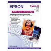EPSON MATTE PAPER HEAVY WEIGHT, DIN A3+, 167G/M, 50 SHEETS