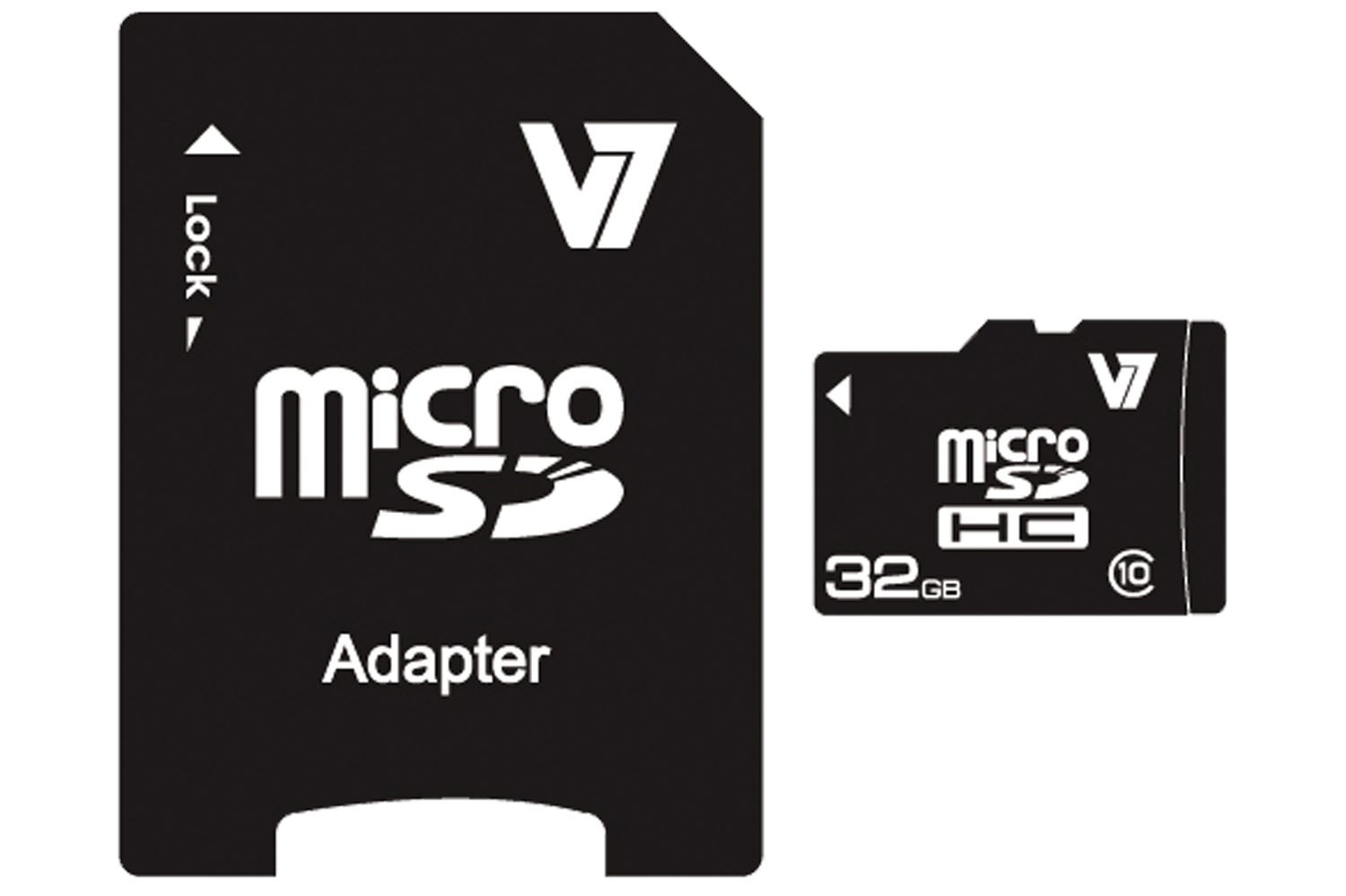V7 VAMSDH32GCL10R-2E MICRO SDHC 32GB CLASS 10 + SD ADAPTER