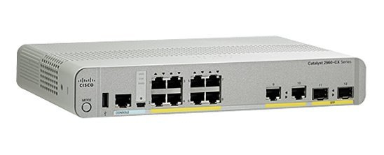 CISCO WS-C2960CX-8TC-L 2960-CX UNMANAGED NETWORK SWITCH L2 GIGABIT ETHERNET POWER OVER (POE) WHITE
