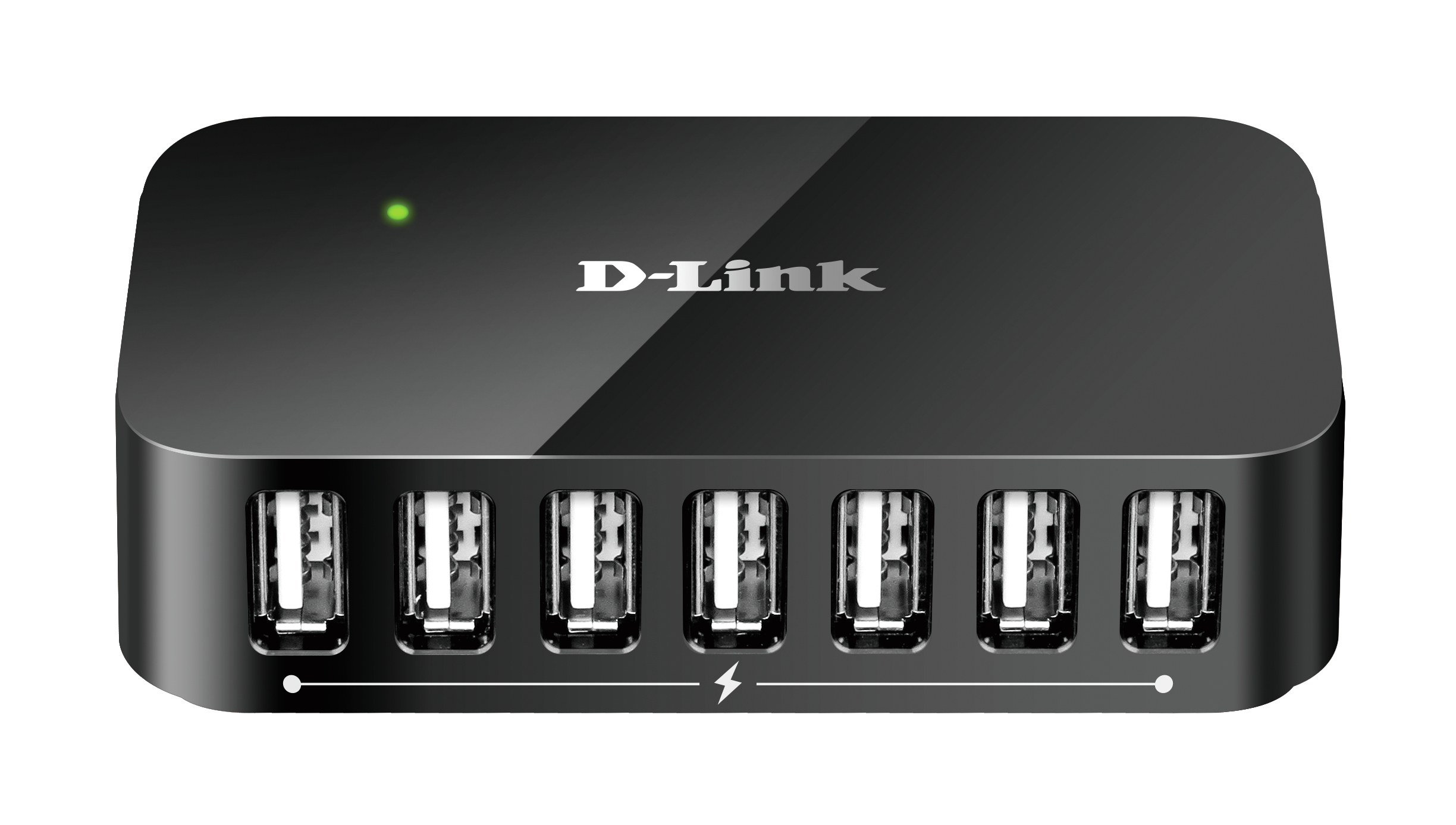 D-LINK DUB-H7 USB 2.0 TYPE-B 480MBIT/S BLACK INTERFACE HUB