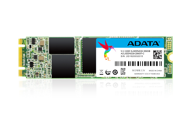 ADATA ASU800NS38-256GT-C 256GB M.2 SERIAL ATA III INTERNAL SOLID STATE DRIVE