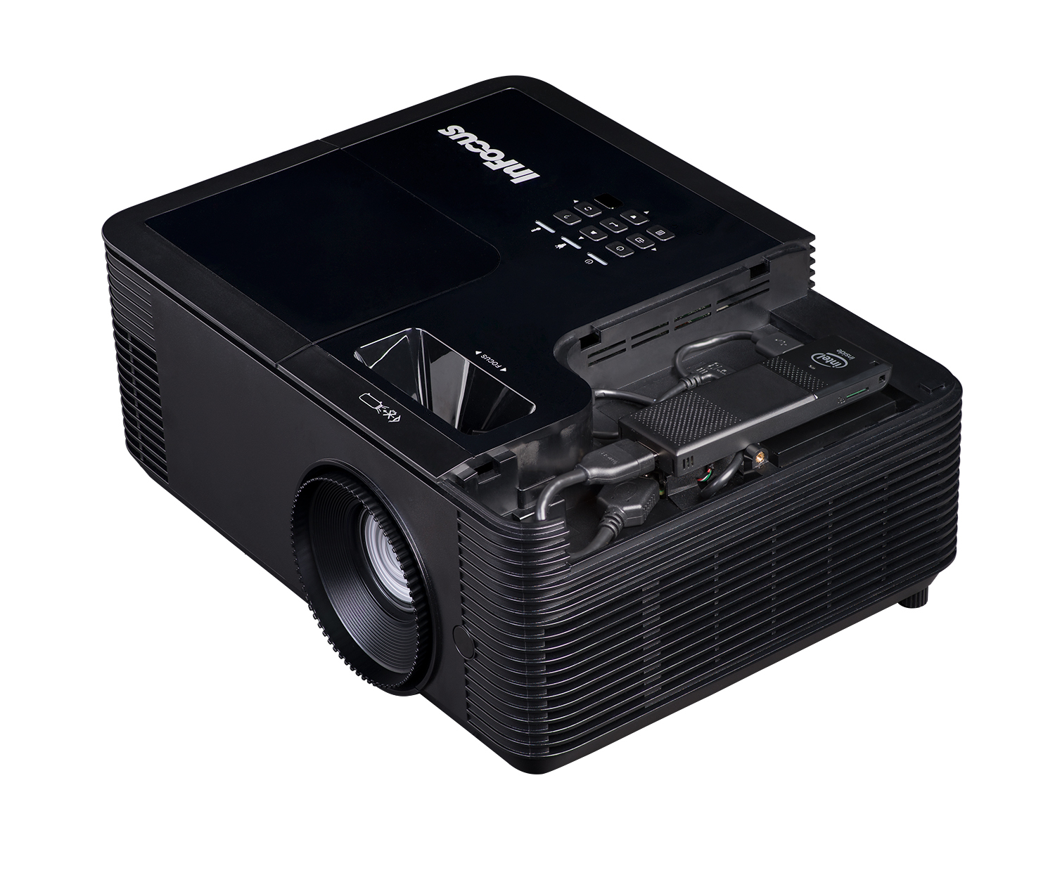 Infocus IN138HD 1080P data projector 4000 ANSI lumens DLP 1080p (1920x1080) 3D Desktop projector Black