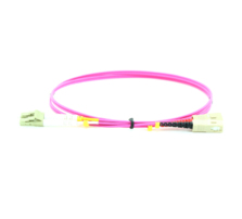MICROCONNECT FIB4220005P 0.5M LC/PC-SC/PC LC/PC SC/PC OM4 VIOLET FIBER OPTIC CABLE