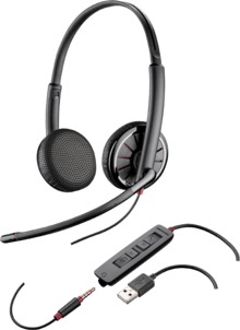 PLANTRONICS 204446-101 BLACKWIRE C325-M BINAURAL HEAD-BAND HEADSET