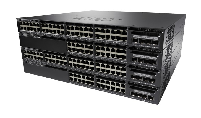 CISCO WS-C3650-48PD-L CATALYST MANAGED L3 GIGABIT ETHERNET POWER OVER (POE) 1U BLACK NETWORK SWITCH