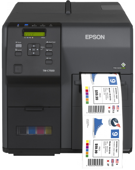 EPSON COLORWORKS C7500 INKJET COLOUR 600 X 1200DPI LABEL PRINTER