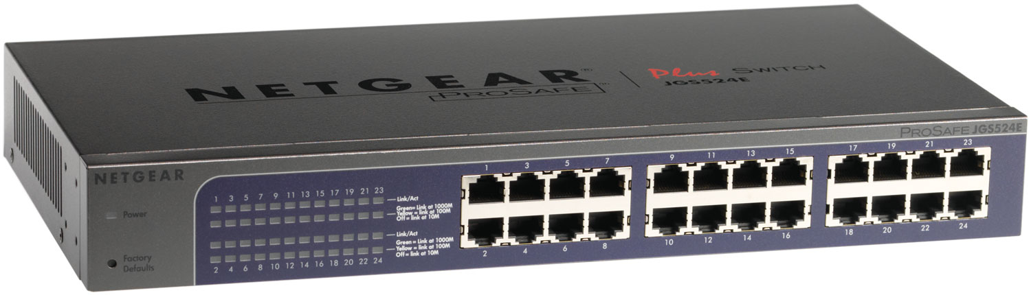 NETGEAR JGS524E UNMANAGED NETWORK SWITCH L2 GIGABIT ETHERNET GREY