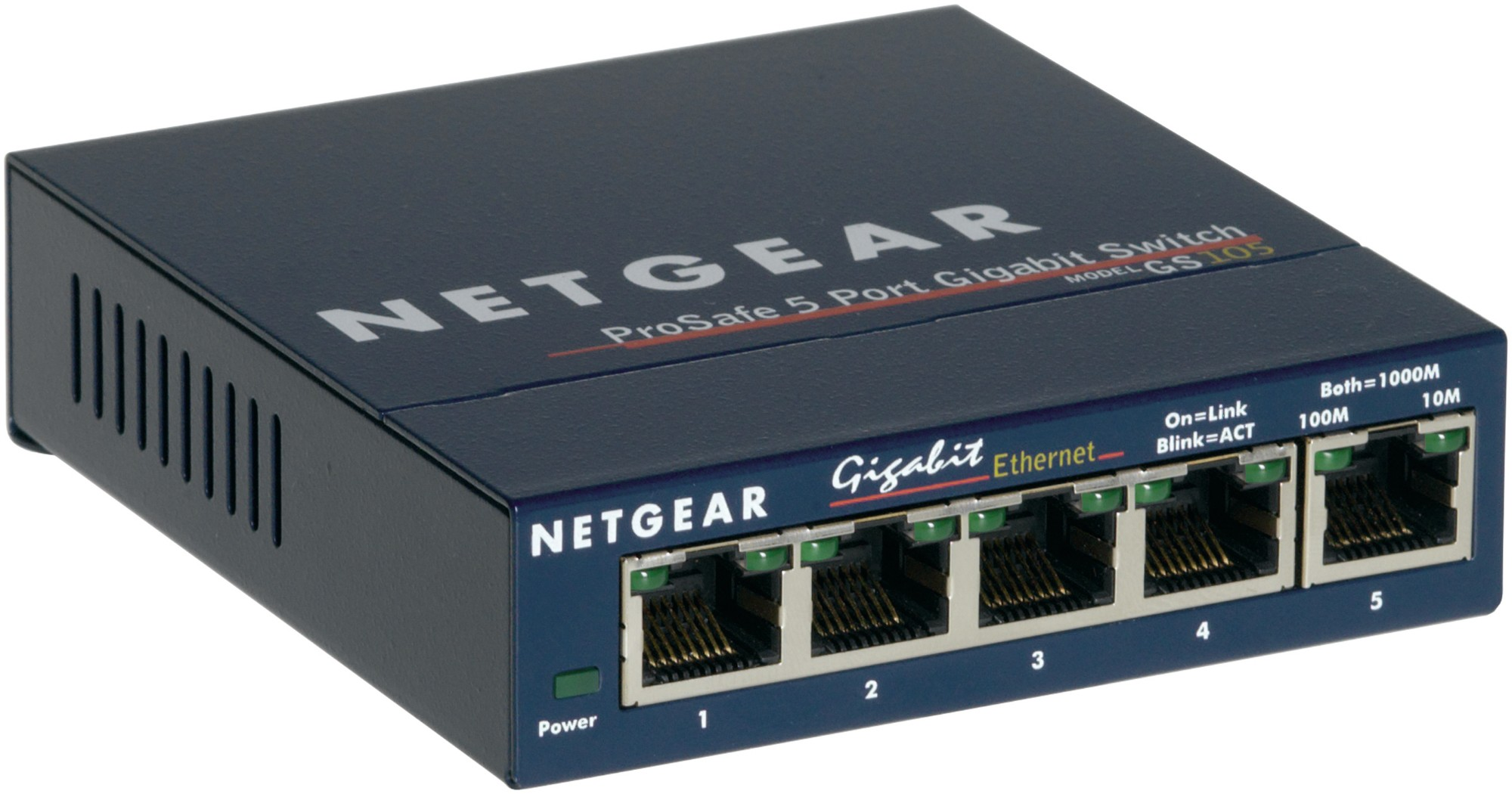 NETGEAR GS105 UNMANAGED NETWORK SWITCH GIGABIT ETHERNET (10/100/1000) BLUE