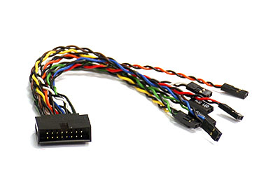 SUPERMICRO FRONT PANEL SWITCH CABLE 16-PIN INTERFACE/GENDER ADAPTER