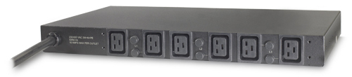 APC BASIC RACK PDU AP7526 BLACK POWER DISTRIBUTION UNIT (PDU)