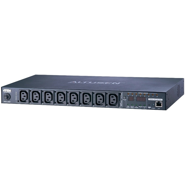 ATEN TECHNOLOGY PE6108G 8-PORT INTELLIGENT 1U ECO POWER DISTRIBUTION UNIT (PDU), METERED (8 X C13)