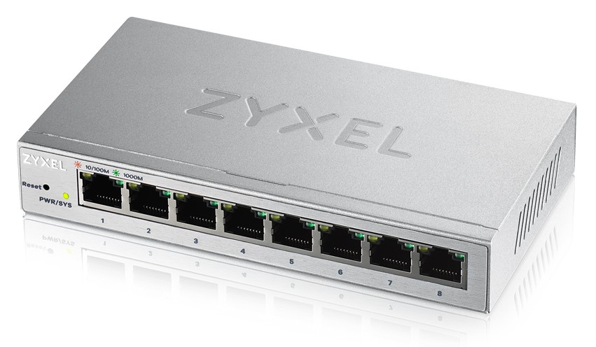 ZYXEL GS1200-8-EU0101F GS1200-8 MANAGED GIGABIT ETHERNET (10/100/1000) SILVER