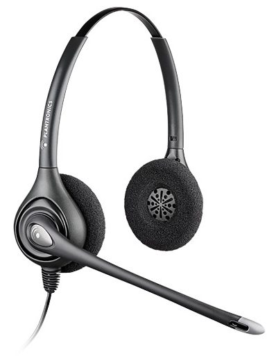 PLANTRONICS 82313-41 SUPRAPLUS HW361N - A WIDEBAND BINAURAL HEAD-BAND SILVER HEADSET