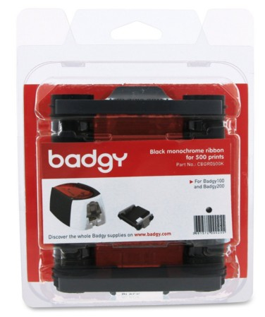 EVOLIS CBGR0500K BLACK MONOCHROME RIBBON FOR 500 PRINTS - BADGY100 & BADGY200
