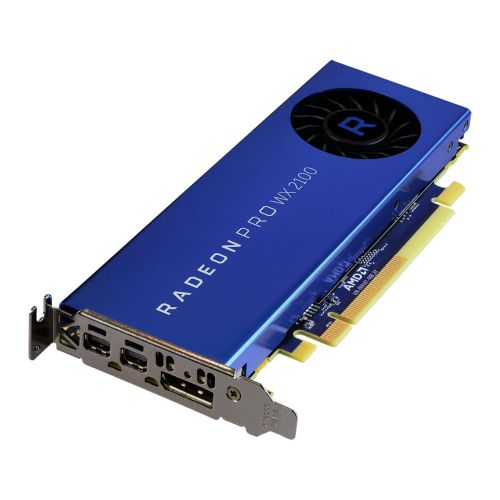 AMD 100-506001 RADEON PRO WX 2100 PROFESSIONAL GRAPHICS CARD, 2GB DDR5, DP, 2 MINIDP (MDP TO DVI ADAPTER), 1219MHZ,