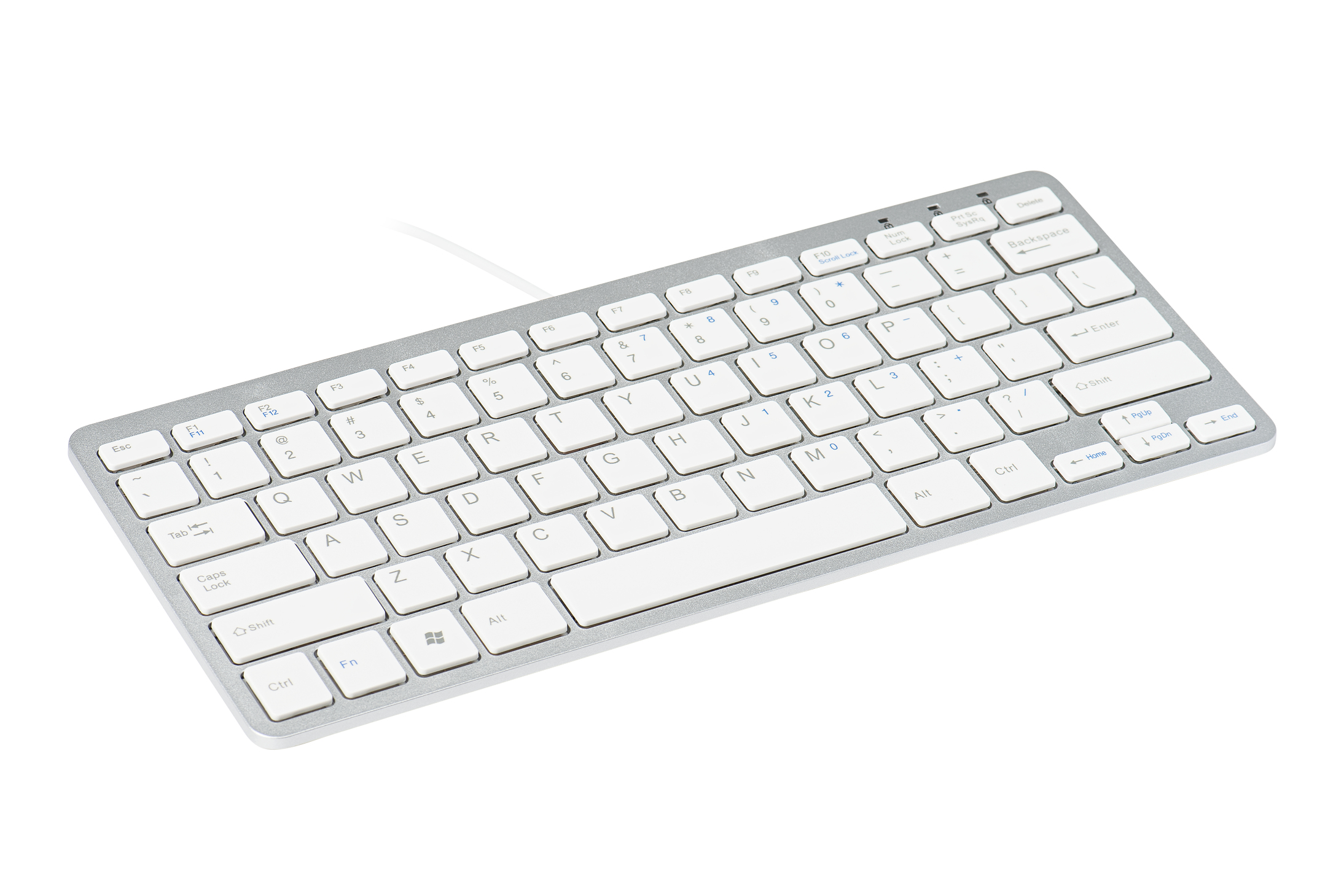 R-GO TOOLS RGOECNDW COMPACT KEYBOARD, QWERTY (NORDIC), WHITE, WIRED