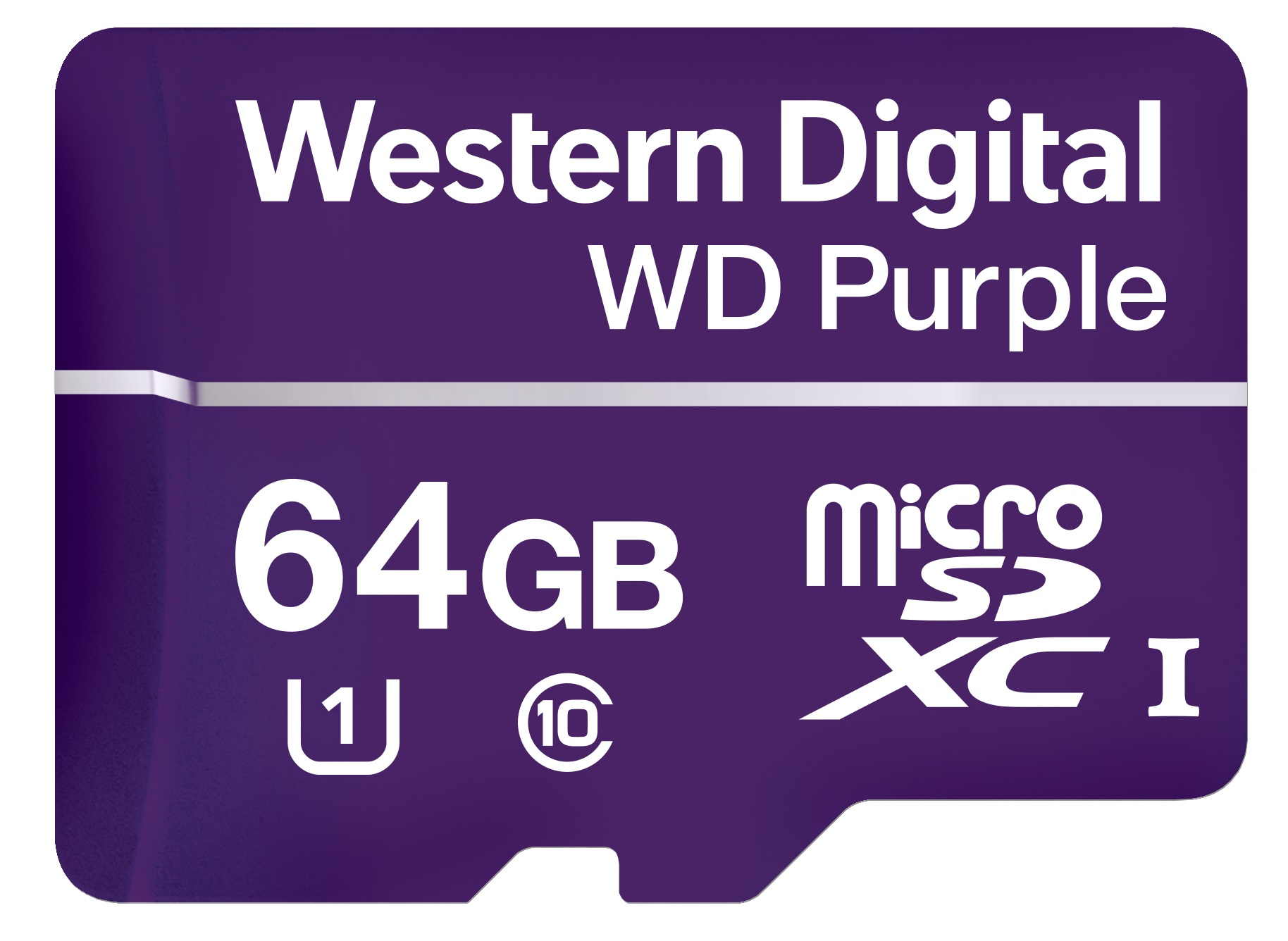 WESTERN DIGITAL PURPLE 64GB MICROSDXC CLASS 10 MEMORY CARD
