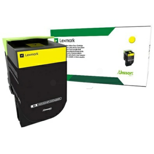 LEXMARK 71B20Y0 TONER YELLOW, 2.3K PAGES