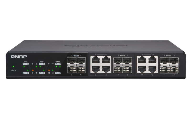QNAP QSW-1208-8C UNMANAGED NONE BLACK NETWORK SWITCH