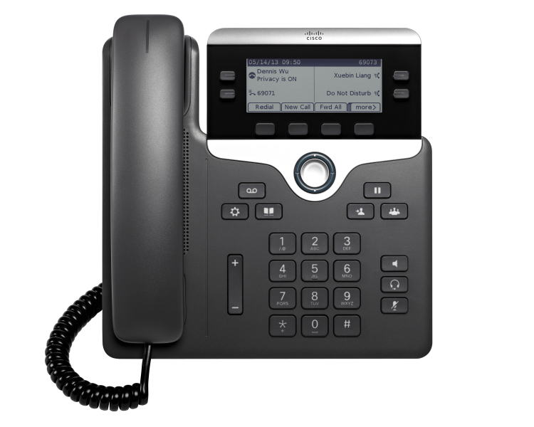 CISCO CP-7821-3PCC-K9= 7821 WIRED HANDSET 2LINES BLACK, SILVER IP PHONE