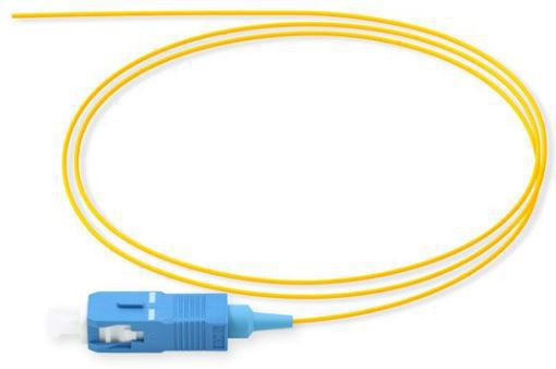MICROCONNECT FIBSCPIG 1.5M SC/UPC OS2 YELLOW FIBER OPTIC CABLE