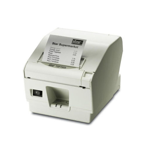 STAR MICRONICS 39442400 TSP743 II, THERMAL TRANSFER, 250 MM - SEC, 8.25 CM, WHITE, UL, C-UL, TV, FCC, VCCI, EN55022, CE, GOST, 147