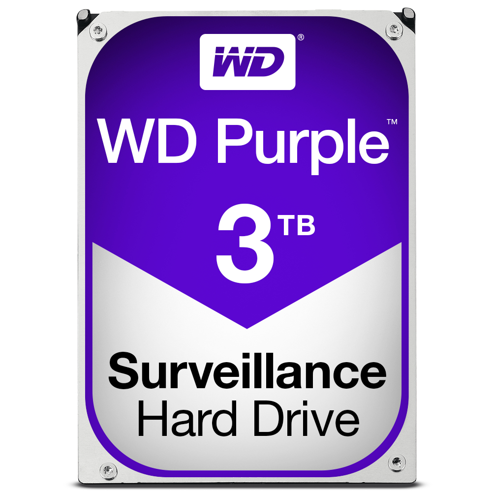 WESTERN DIGITAL PURPLE HDD 3000GB SERIAL ATA III INTERNAL HARD DRIVE