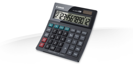 CANON AS-220RTS DESKTOP DISPLAY BLACK CALCULATOR
