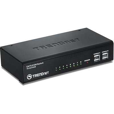 TRENDNET TK-CAT508 BLACK KVM SWITCH