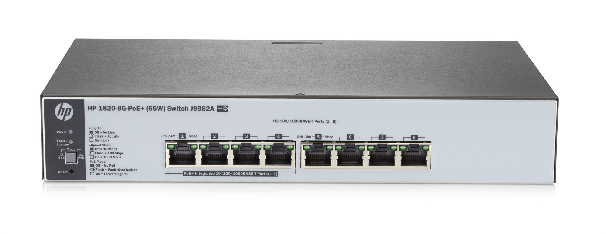 HPE J9982A 1820-8G-POE+ (65W) MANAGED NETWORK SWITCH