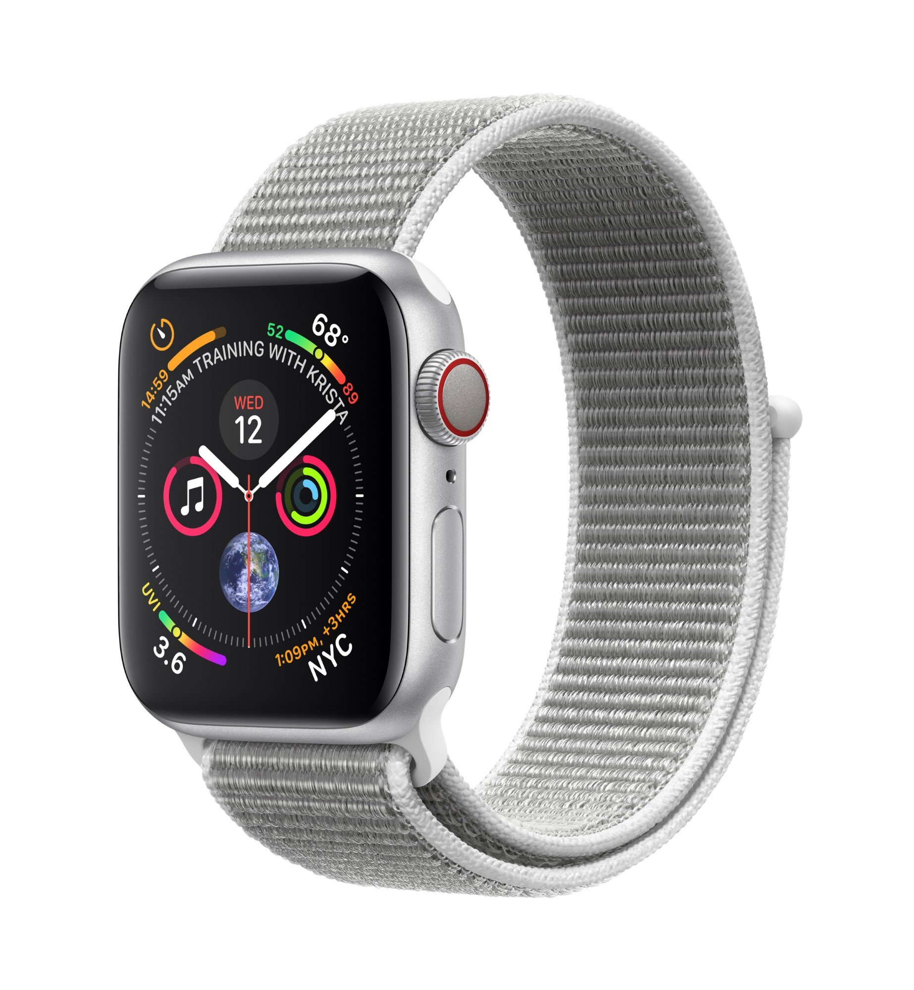 Apple Watch Series 4 smartwatch Silver OLED Cellular GPS (satellite)