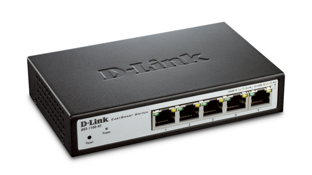 D-LINK DGS-1100-05 MANAGED NETWORK SWITCH L2 GIGABIT ETHERNET (10/100/1000) GREY