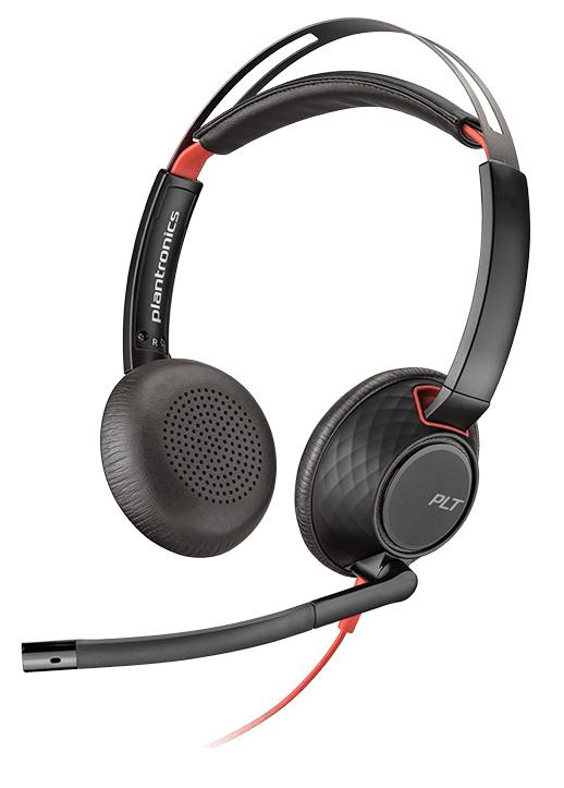 PLANTRONICS 207576-01 BLACKWIRE 5220 BINAURAL HEAD-BAND BLACK, RED HEADSET