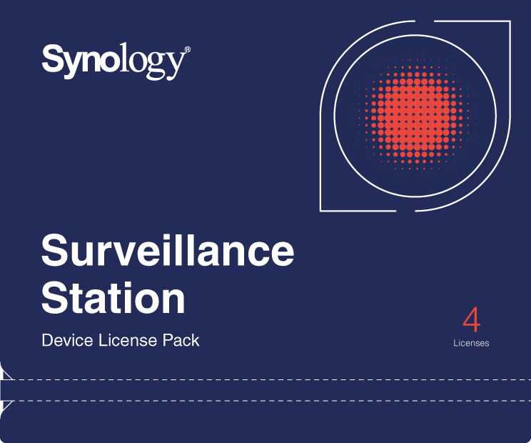 SYNOLOGY 4X CAMERAS LICENCE PACK