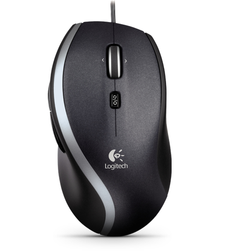 LOGITECH M500 USB LASER 1000DPI RIGHT-HAND BLACK MICE