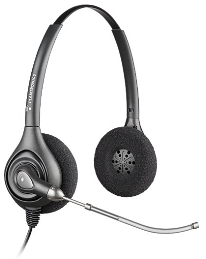 PLANTRONICS 36830-41 SUPRAPLUS WIDEBAND HW261 - A BINAURAL HEAD-BAND BLACK HEADSET