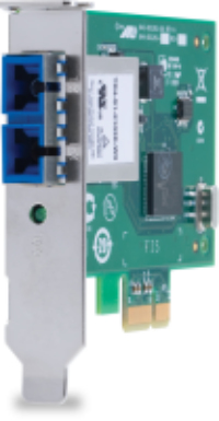 ALLIED TELESIS SINGLE PORT FIBER GIGABIT NIC FOR 32-BIT PCIE X1 BUS, SC CONNECTOR