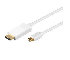 MICROCONNECT MDPHDMI3 MINI DISPLAYPORT-HDMI, M/M, 3M, WHITE