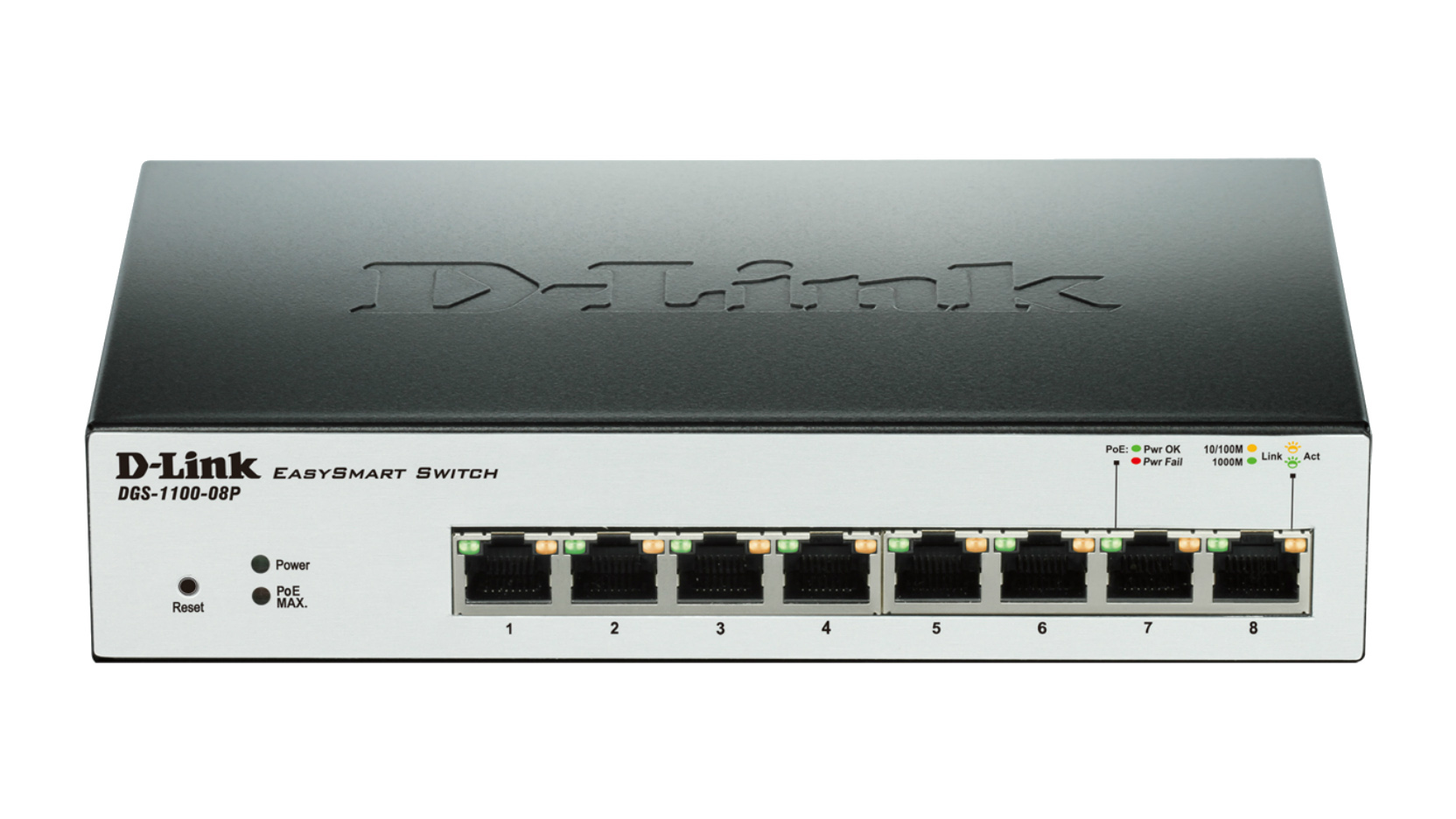 Buy Now D Link Dgs 1100 08p L2 Gigabit Ethernet Power Over Is A Technology That Allows Devices Such Uk Poe Black Network Switch