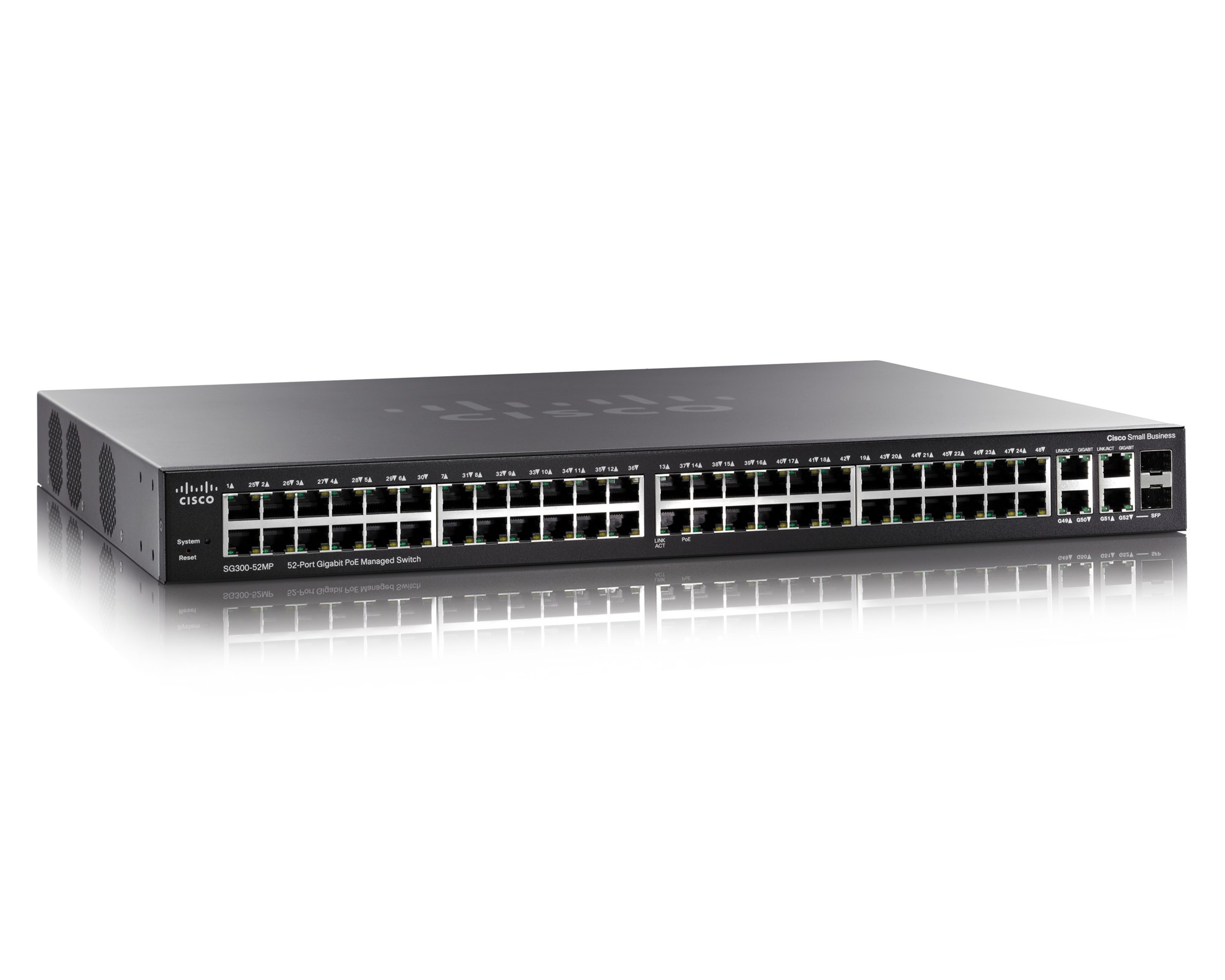 CISCO SG300-52MP-K9-EU SMALL BUSINESS SG300 52-PORT GIGABIT MAX-POE MANAGED SWITCH