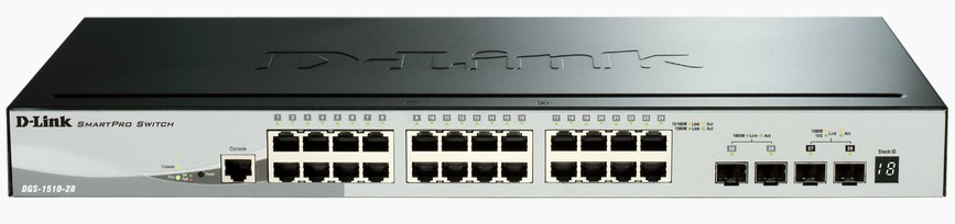 D-LINK DGS-1510 MANAGED NETWORK SWITCH L3 GIGABIT ETHERNET BLACK