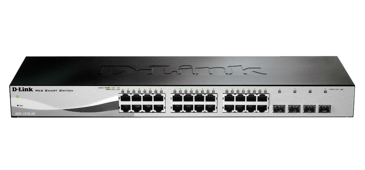 D-LINK DGS-1210-28 1U BLACK NETWORK SWITCH